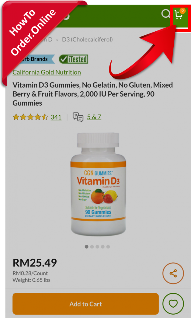 18-open iherb cart page_Mobile Screenshot_US