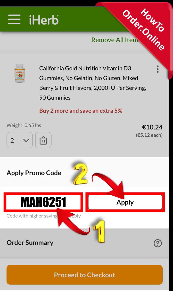 20-Add iherb promo code in car_Mobile Screenshot_FI