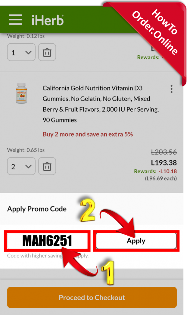 20-Add iherb promo code in cart_Mobile Screenshot_US