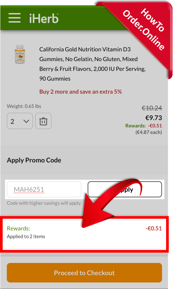 21-getting discount after adding the iherb promo code_Mobile Screenshot_FI