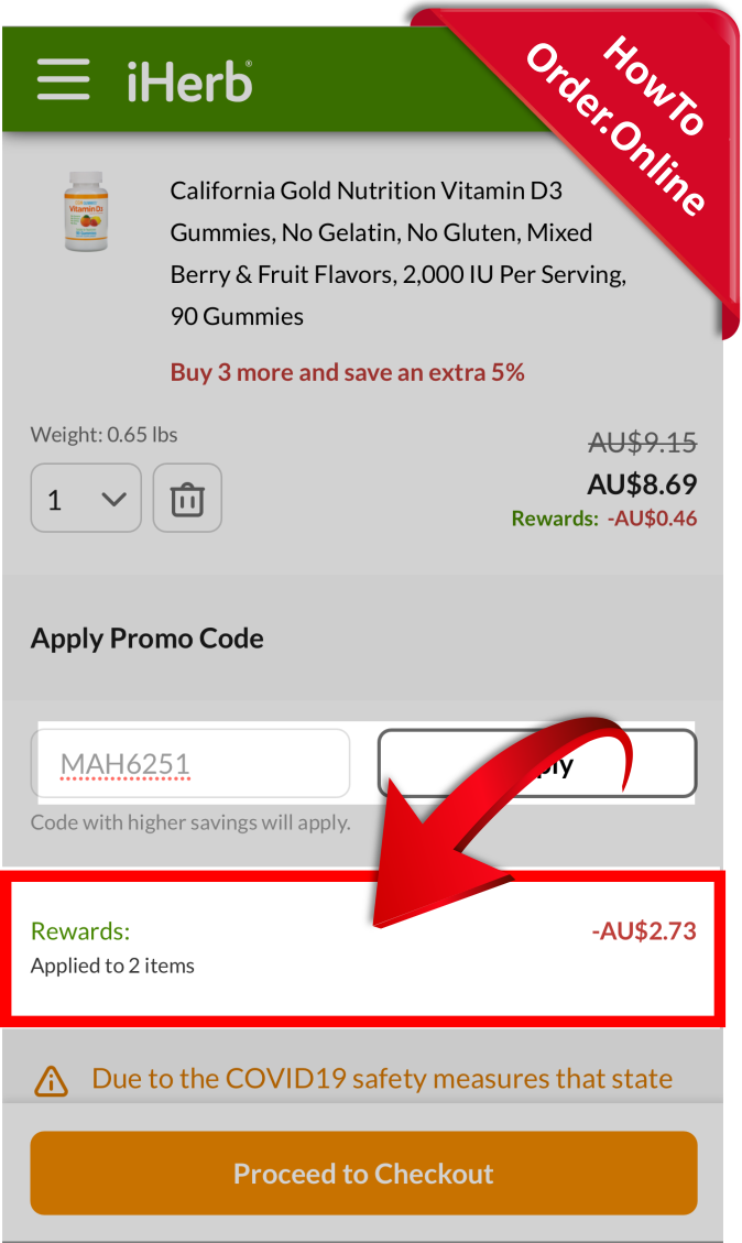 21-getting discount after adding the iherb promo code_Mobile Screenshot_AU