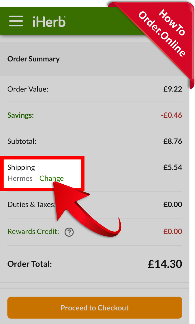 22-change iherb shipping courier_Mobile Screenshot_GB