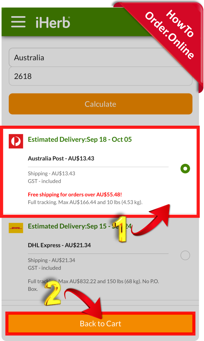 24-choose the preferred shipping courier_Mobile Screenshot_AU
