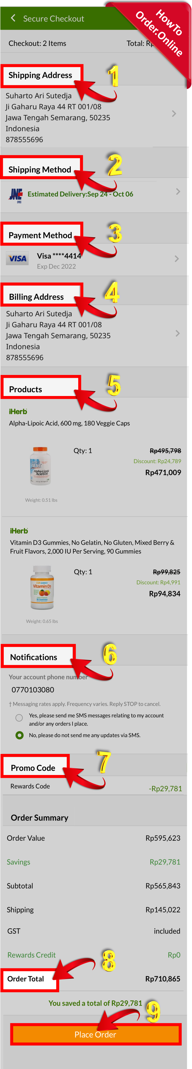 28-Reviewing iherb order then finally placing it_Mobile Screenshot_ID