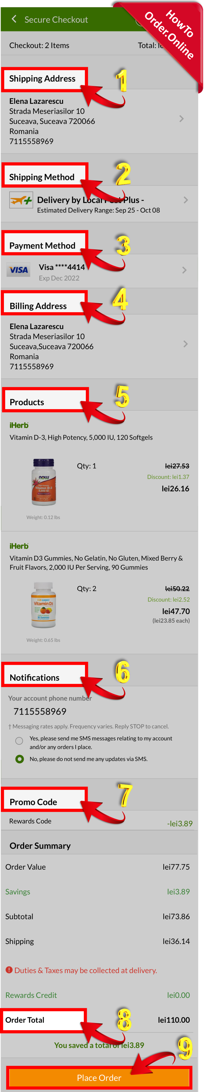 28-Reviewing iherb order then finally placing it_Mobile Screenshot_US